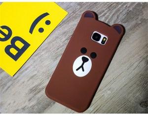 line brown bear kawaii cute samsung case 2