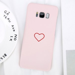 simple kawaii cute heart samsung galaxy case s7 s8 s9 note 8 pink